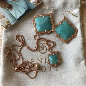 Kendra Scott Rose Gold Set.